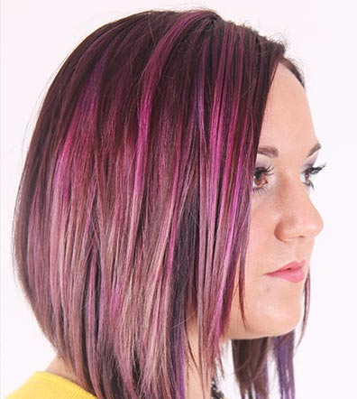 Purple hair -slingor